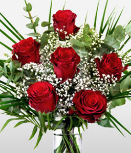 Romantic Red Roses-Red,Rose,Bouquet