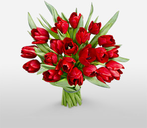 Rapturous Reds-Red,Tulip,Bouquet