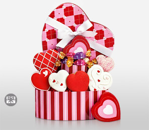 Valentine Heart-Red,Chocolate,Hamper