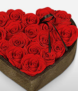 Heart Full Of Roses-Red,Rose,Arrangement
