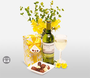 Chocolates And Wine-Chocolate,Wine,Hamper