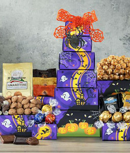 Halloween Chocolate Tower