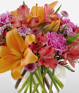 Spread Happiness <Br><Font Color=Red>Colorful Mixed Flower Arrangement</Font>