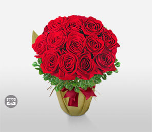 Festive Roses-Red,Rose,Bouquet