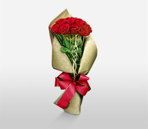 Perfectly Christmas-Red,Rose,Bouquet