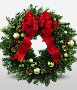 Holiday Cheer Christmas Wreath