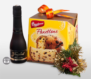 A Toast To Christmas-Cava Freixenet, Panettone Bauducco Mixed Arrangement