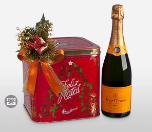 Holiday Greetings-Champagne Veuve Cliquot, Special Panettone