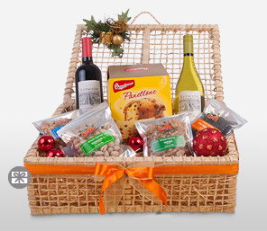 Merry Gifts-Chilean Red Wine, Chilean White Wine, Panettone Bauducco,