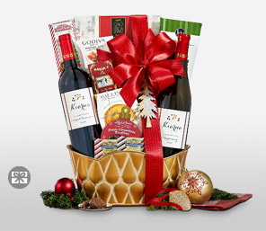 Xmas Wine Basket