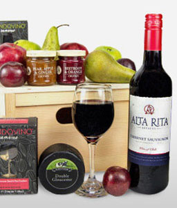 Cheese And Wine Gourmet Hamper