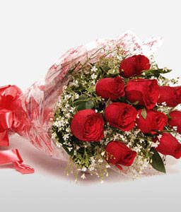 Cupid Red Roses-Red,Rose,Arrangement
