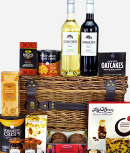 Gourmet Goodies-Gourmet,Gifts,Basket,Cookies,Wine,Chocolates