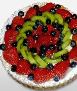 Mixed Fruit Punch-Cake,Birthday,Kiwis,Berries,Cream