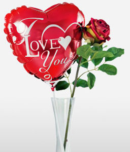 Precious Love <font color=Red>Silk Rose + Balloon + Chocolates</font>