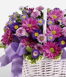 Fresh Flowers Basket
