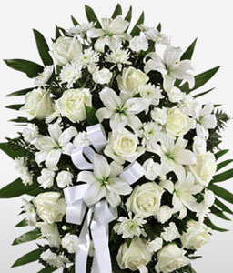Standing Funeral Flower Arrangement