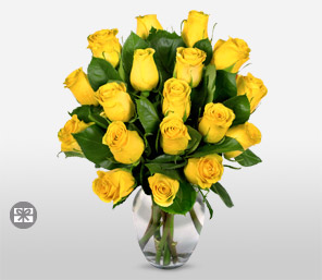 Yellow Roses - 18 Stems