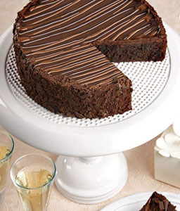 Triple Chocolate Enrobed Brownie Cake - 35oz/1kg