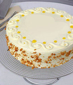 Butterscotch Eggless Cake - Half Kg