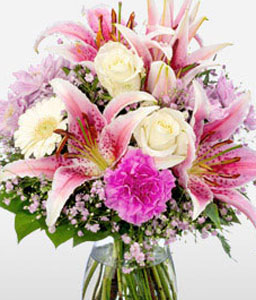Mixed Flowers In Pink