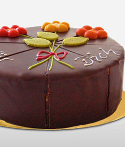 German Pyramid Cake with Marzipan Flower - 21oz/600g