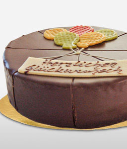 Dark Chocolate Dessert Cake - 600g/21oz - Has Traces of Egg