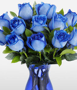Premium Blue Hues Rose Bouquet