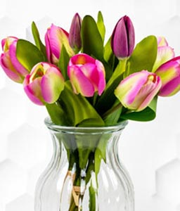 Silk Tulips Arrangement