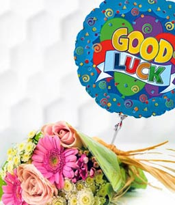 Good Luck Bouquet N Balloon