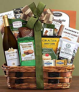 Crossridge Peak Chardonnay Wine Basket