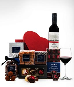 Merlot Wine & Chocolates Gift Box