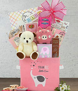 Pampered Girl Pink Gift Basket