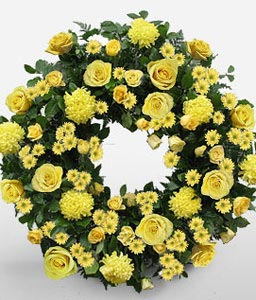 Contemporary Funeral Wreath-Wreath