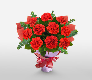Passion Bouquet-Red,Carnation,Bouquet