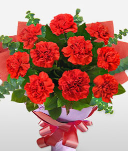 Valentines Flowers-Red,Gerbera,Bouquet