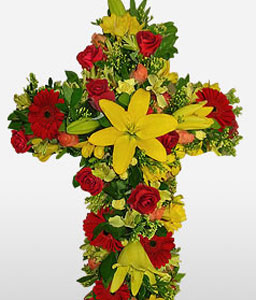 Sympathy Cross-Wreath,Sympathy