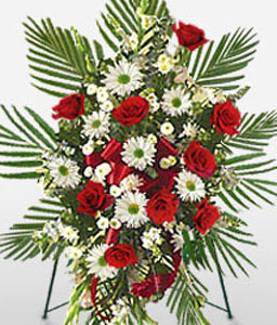 Dainty Goodbyes - Condolences Floral Spray