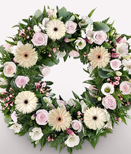 Sentiments Wreath-Wreath,Sympathy
