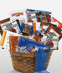 Happiness And Chocolates-Gourmet,Chocolate,Basket,Hamper