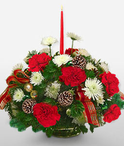 Happy Holidays Centerpiece-Red,Centerpiece