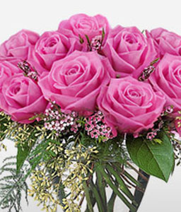 Lavender Blush <Br><Font Color=Red>One Dozen Roses</Font>