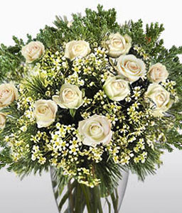 Spring Radiance Arrangement-White,Rose,Bouquet