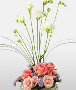 A Wonderful Day!-Mixed,Pink,Purple,Freesia,Mixed Flower,Rose,Arrangement