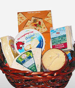 Cheesy Delight-Gourmet,Basket,Hamper