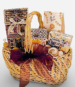 Chocolates N Gourmet Hamper-Chocolate,Gourmet,Basket,Hamper