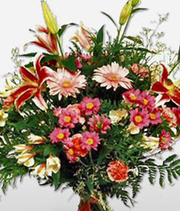Tango Temptation-Mixed,Carnation,Gerbera,Lily,Mixed Flower,Arrangement