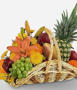 Fruit Indulgence-Fruit,Lily,Basket