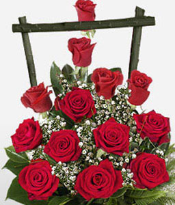 Rose Delight-Red,Rose,Arrangement,Basket