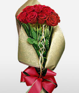 Jiuzhaigou Dreams <Br><Font Color=Red>Luxurious Red Rose Bouquet - Sale $10 Off</Font>